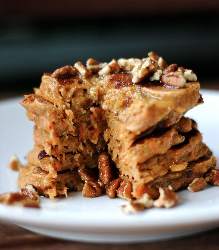 Carrot Cake Pancakes with Brown Butter and Pecans (via Blog: Fat Girl ...