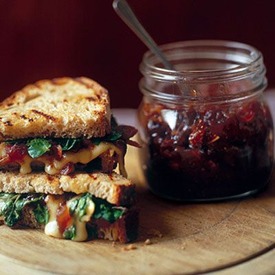 Brie toastie with fig chutney | Toastie Toppings | Pinterest