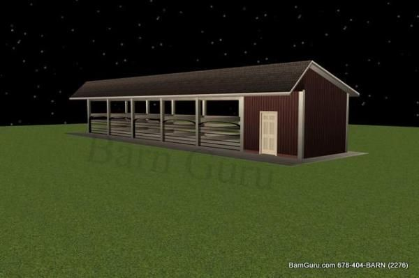 5 Stall Horse Barn Plan Equestrian Facility Pinterest