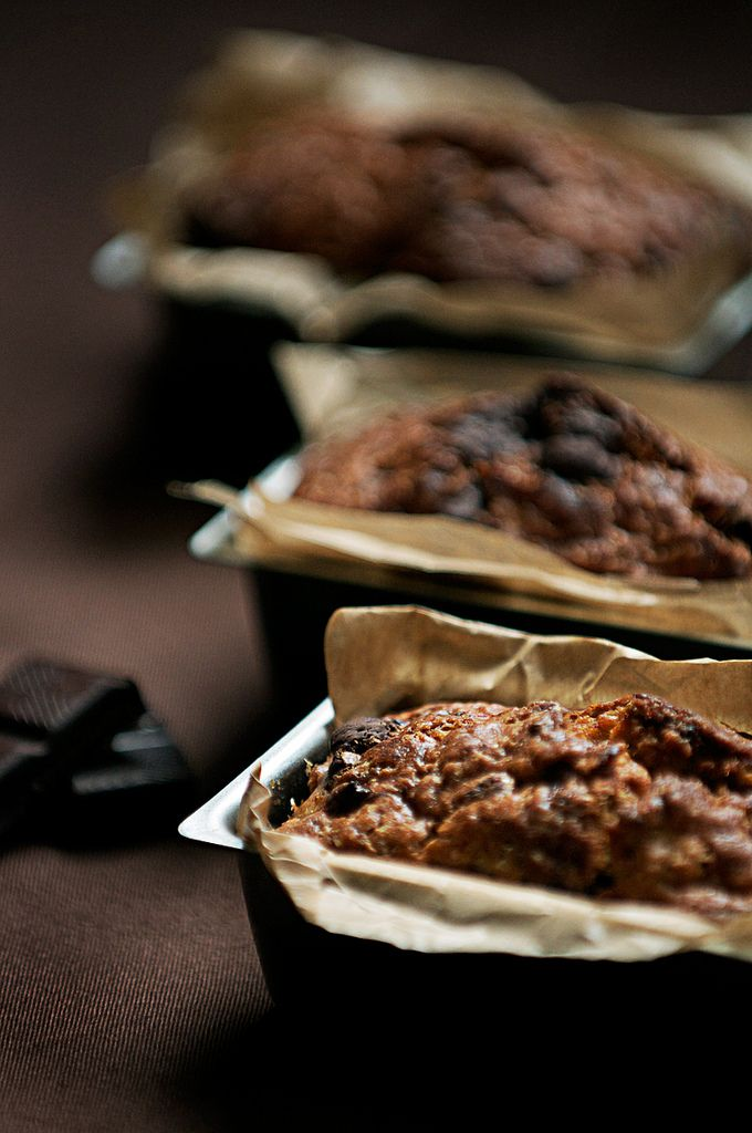 Lemony olive oil banana bread with chocolate from @ ...