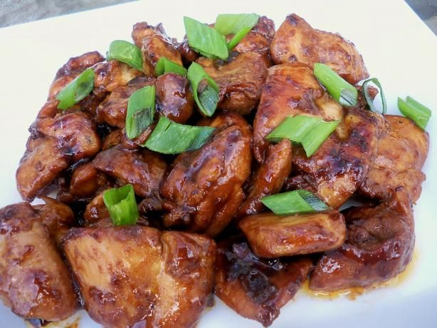 Bourbon Chicken. Directions: 1. 1 Mix ingredients for sauce in a small ...