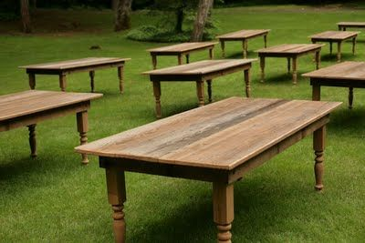 Reclaimed barn wood farm tables mrs drake pinterest for Reclaimed wood furniture oregon