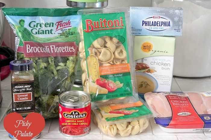 Slow Cooker Creamy Chipotle Chicken Tortellini | Recipe