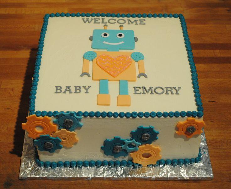 robot baby shower baby shower cakes pinterest