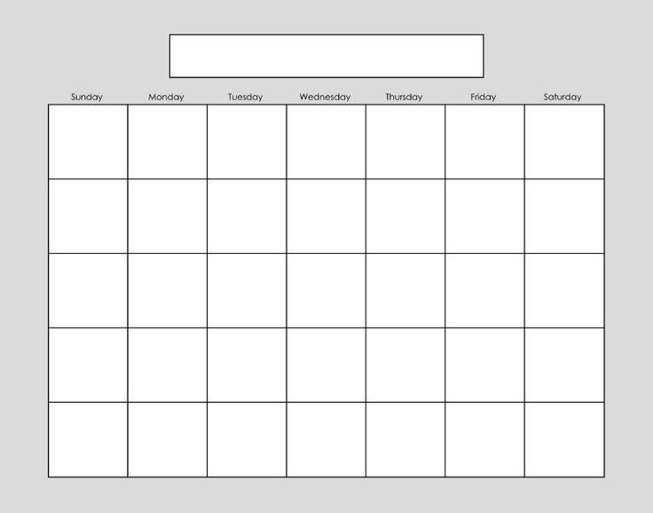 blank-calendar-10.jpg 764×600 pixels   For the Home   Pinterest