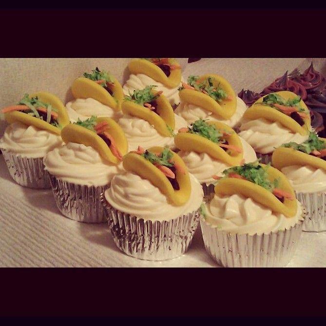 Taco cupcakes | DESSERTS | Pinterest