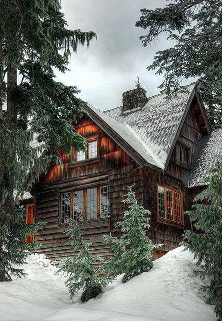Pretty In The Winter Log Cabin Pinterest