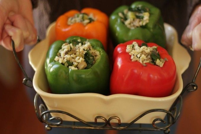 temp-tations® by Tara: Brown Rice & Veggie Stuffed Peppers - Lighter ...