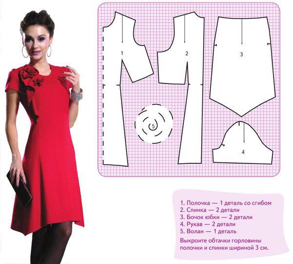 Как сшить красивое платье выкройки платья