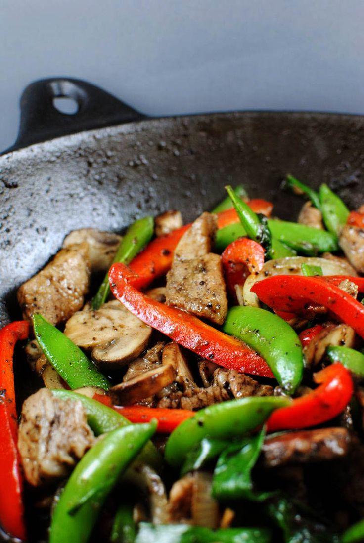 Pork Black Pepper Stir Fry | wok | Pinterest
