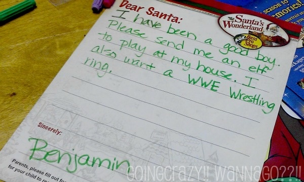 letter to Santa asking for Elf Magic | Elf Magic: My BFF | Pinterest