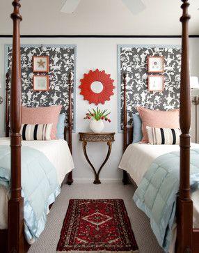 Guest Bedroom - transitional - bedroom - atlanta - Rachel Oliver Decorative Design