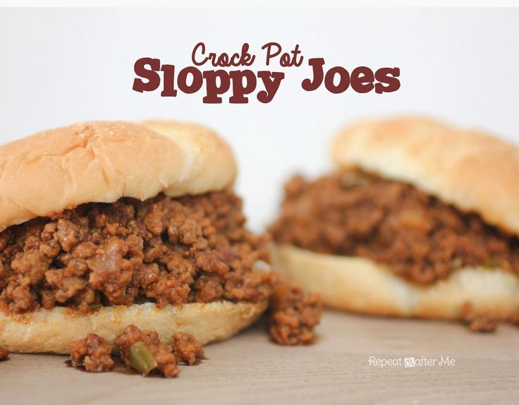 Repeat Crafter Me: Crock Pot Sloppy Joes | Recipes to try | Pinterest