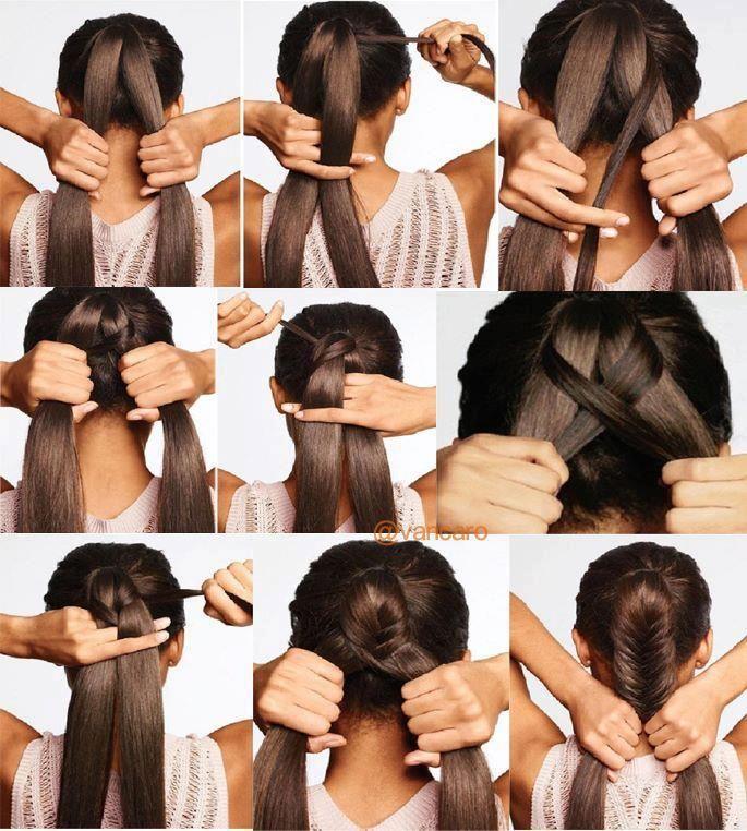 Step By Step Fishtail Braids | Braids | Pinterest