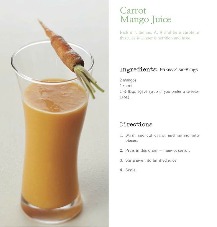 Juicepresso s Carrot Mango juice recipe. Juicing Recipes Pinterest