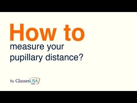 How to measure interpupillary distance
