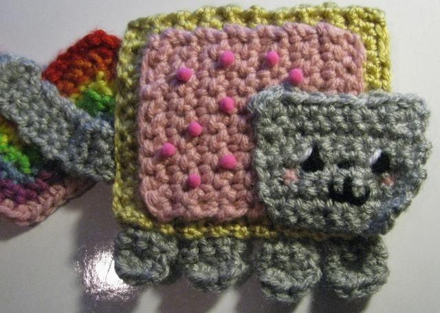 Nyan Cat (Poptart Cat) Scarf Pattern