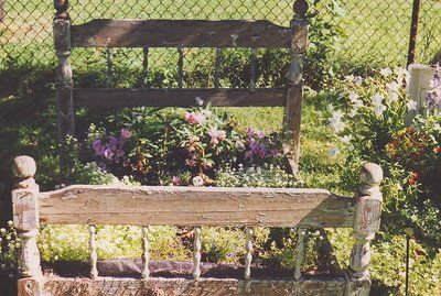 I hope I have a green thumb, I want a flower bed in my garden so bad! Only with an old rot iron bed frame and head/foot board...Someday *sigh*
