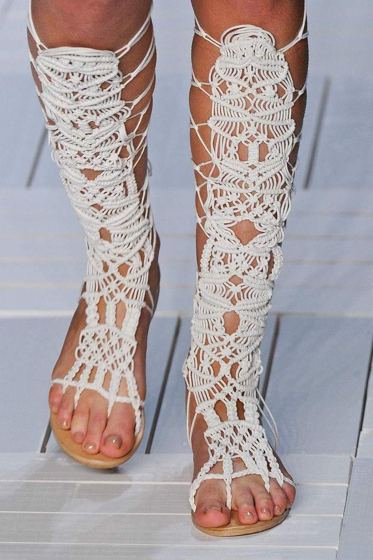 Agatha RTW 2012. Macrame sandals.