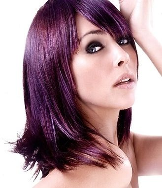 Eggplant Hair Color Pictures  Dark Brown Hairs