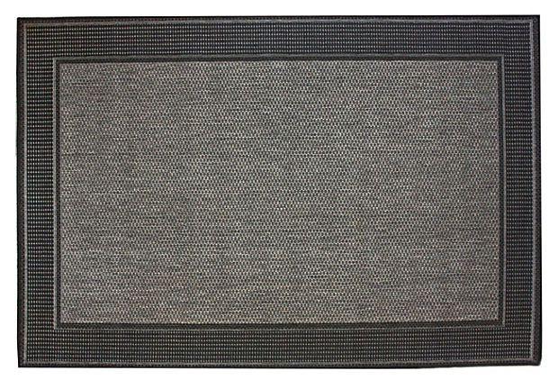 Hale Outdoor Rug Black Gray