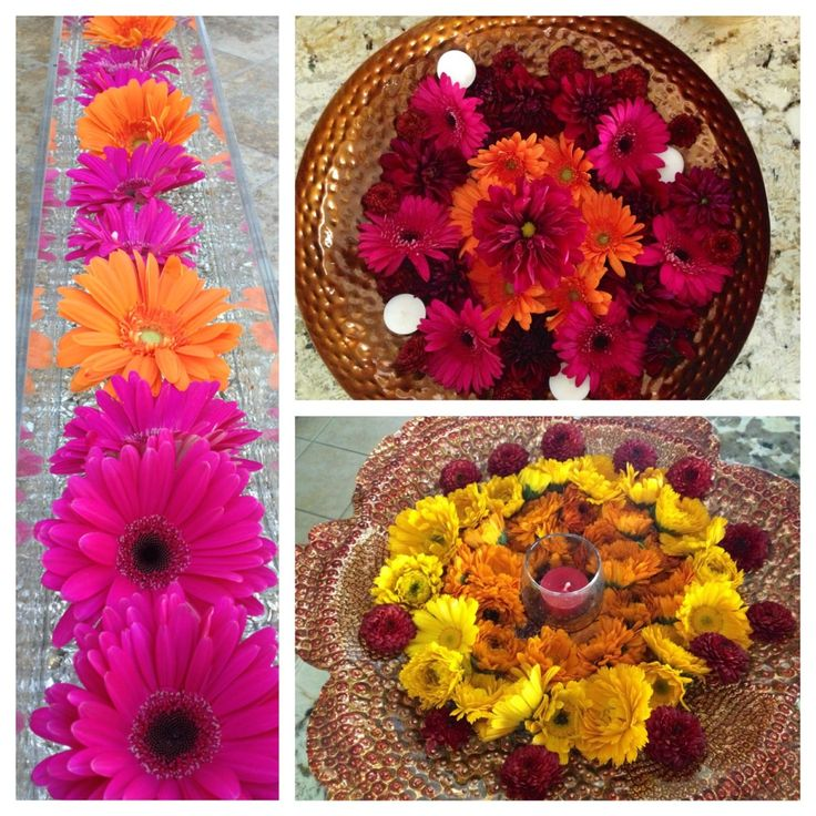 Indian flower arrangem...