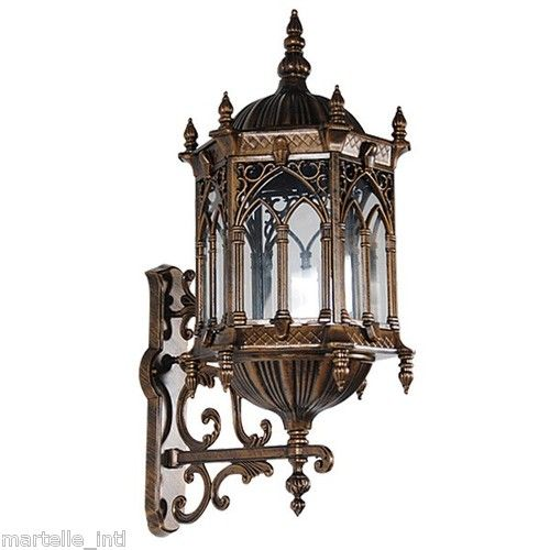 Wall Sconces Gothic : Wall Sconce Light Gothic styled UL listed Cast Aluminum Medieval Exte?
