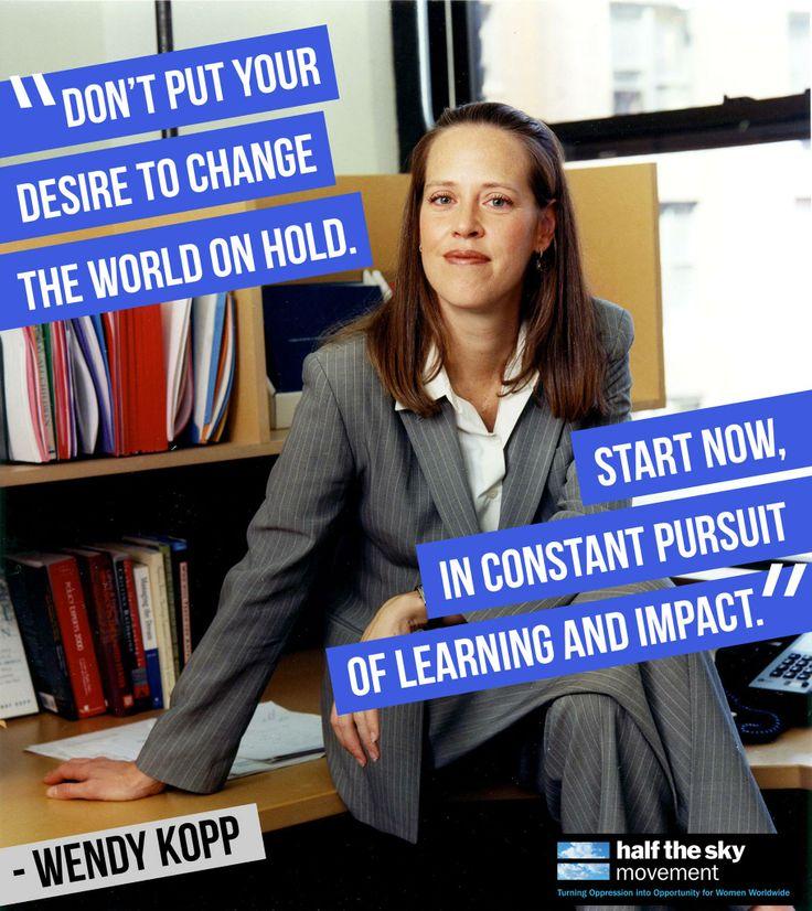 wendy kopp thesis princeton