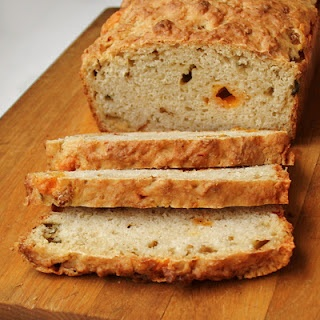 Cheese and Giardiniera(pepper) Beer Bread: I've never made bread, and ...