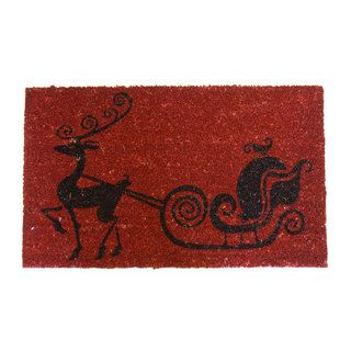 Rudolph the Red Nose Reindeer' Coir Holiday Door Mat