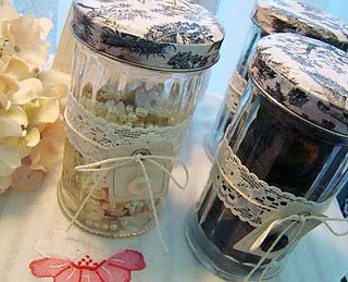 How to dress up some old jars and turn them into pretty display storage · Recycled Crafts | CraftGossip.com