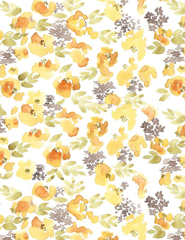 yellow floral pattern - photo #48