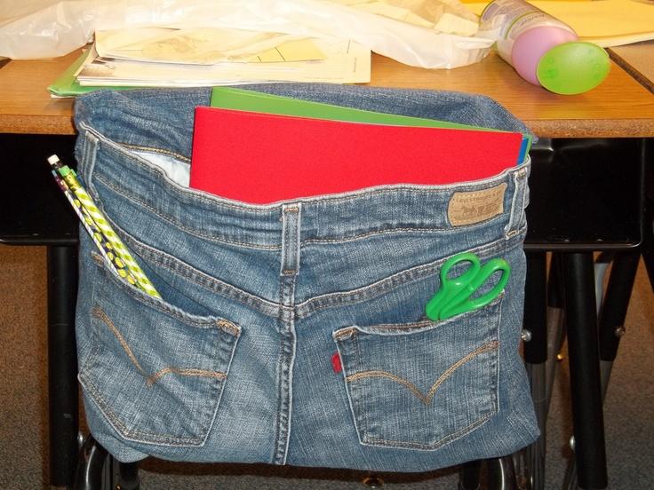 Jean Chair Pockets Classroom Ideas Pinterest
