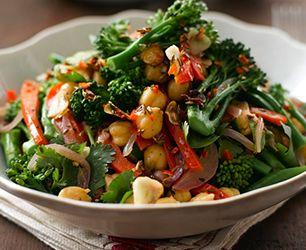 Tenderstem and Chickpea Salad | Food | Pinterest