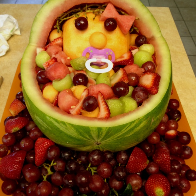 baby shower fruit salad baby shower pinterest