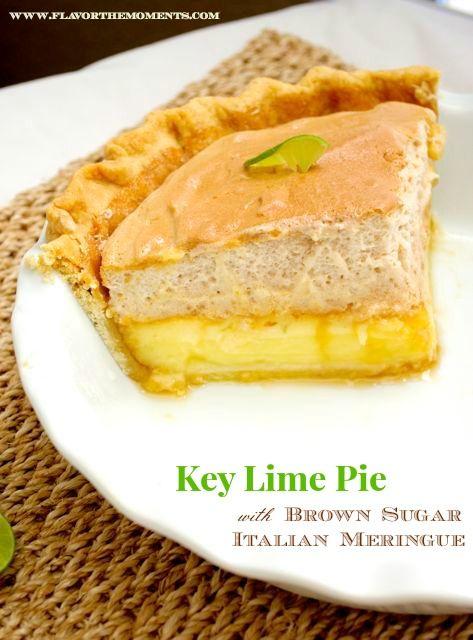 Key Lime Pie with Brown Sugar Italian Meringue | flavorthemoments.com