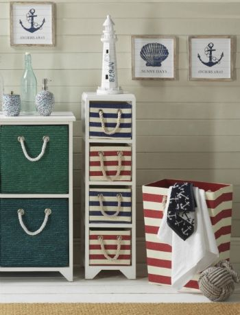 Perfect Home Especially Suited To Bathroom Storage Due To The Its Nautical