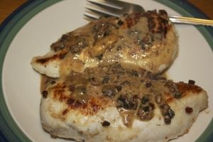 Creamy chicken marsala with pancetta & herbed parmesan orzo