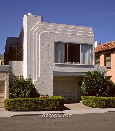 House san francisco art deco pinterest for Streamline moderne house plans