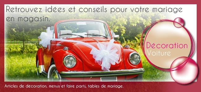 decoration voiture de mariage et voiture balai