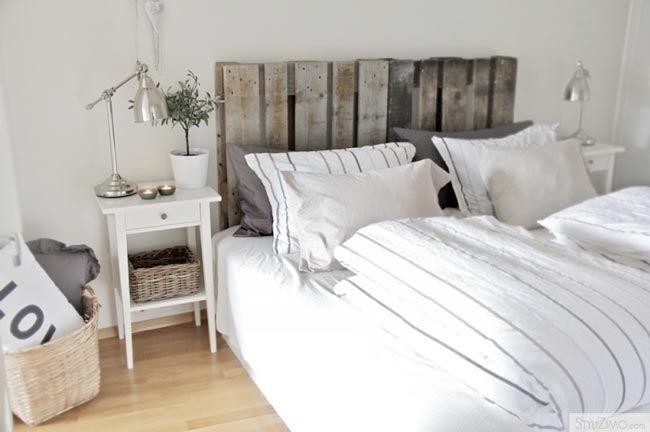 Tete de lit en palette palettes pinterest - Palette bois tete de lit ...