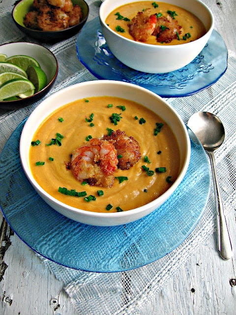 Curried Carrot Soup with Coconut Shrimp | Soups and stews | Pinterest