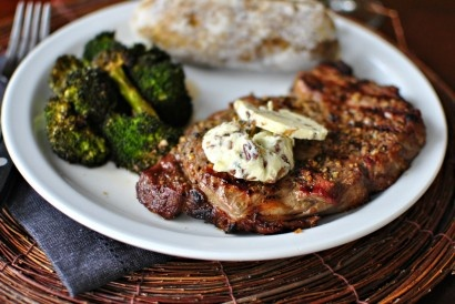 Ribeye Steaks with Caramelized Shallot and Blue Cheese Butter | Tasty ...