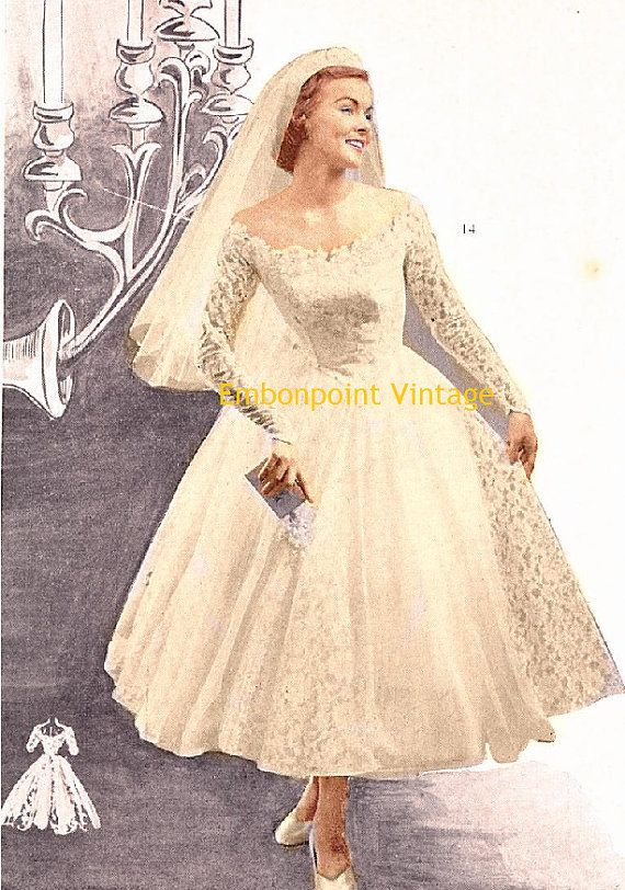 Plus size or any size vintage 1949 wedding dress sewing for Wedding dress patterns plus size