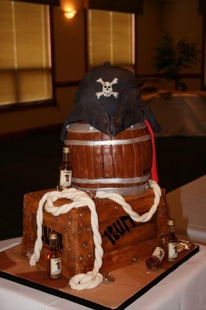Pirate Crate Cake