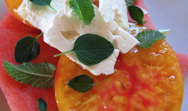 Tomato, Watermelon and Feta Salad | Grub | Pinterest