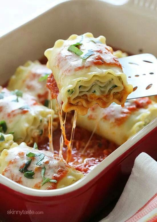 Zucchini & cheese lasagna rolls | Recipes to Try | Pinterest
