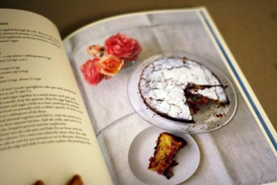 "Ripe"" with Plum cake with honey and cinnamon Nigel Slater"