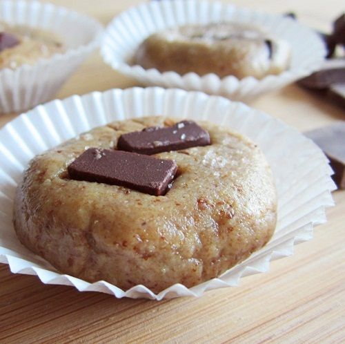 Salted No Bake Chocolate Chunk Cookies: Raw, Dairy-Free, Gluten Free bliss