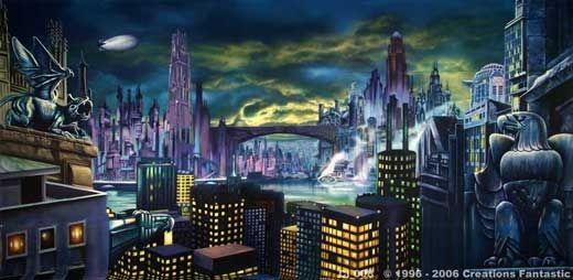 Gotham City Skyline Batman Gotham City Skyline Backdrops